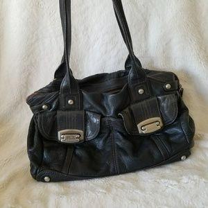 B. Makowsky medium black bag leather