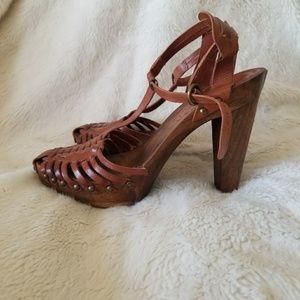 BCBG Girls wood bottom heels