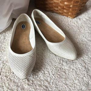 Dr. Scholl's white flats