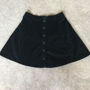 Brandy Melville Corduroy Button down Skirt
