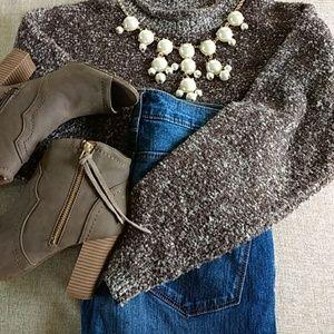 Rafaella knobby knit sweater size medium