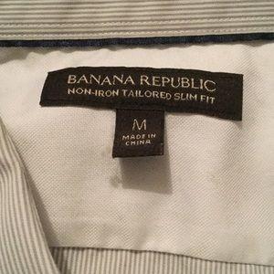 Banana Republic Shirts - Banana Republic LS slim fit oxford, medium, stripe