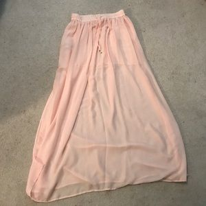 Light pink Mango maxi skirt (NWOT)
