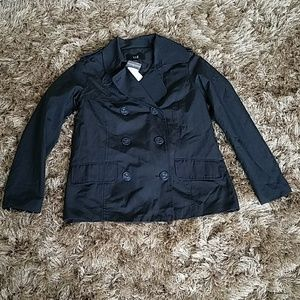 XXI Navy Blue Short Trench Jacket