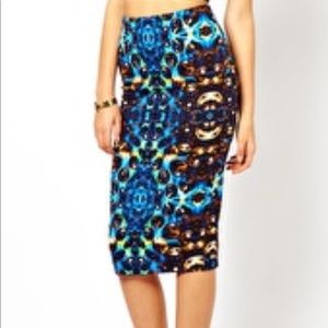 Asos Jewel Print Skirt- Size 4