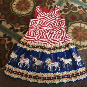 266b011e39d08b genuine kids Dresses - Genuine Kids Oshkosh Circus Dress 3T Carousel