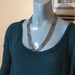 Slinky Silver Chainmail Necklace