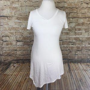 W Collection Asymmetrical White Top