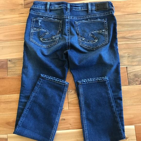 e132126b Women's used Silver Suki mid / super skinny jeans.  M_59bae9b156b2d672b3025815