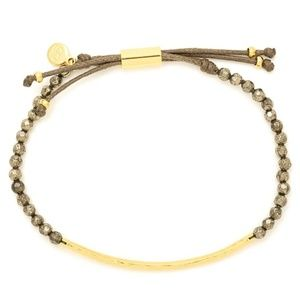 Gorjana power stone strength gold bracelet set