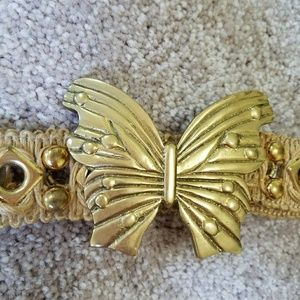Accessories - vintage brass butterfly belt