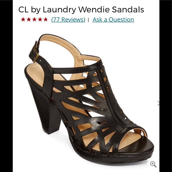 183e585f80 CL LAUNDRY Shoes   Final Price Cl By Laundry Wendie Black Peep Toe ...