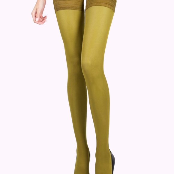 77be5c5537f977 VienneMilano Accessories | Olive Green Thigh Highs Stockings | Poshmark