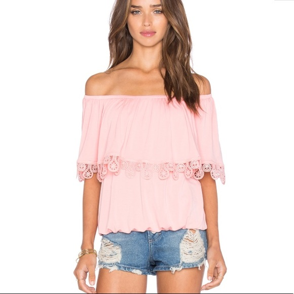 bdac853b3ca Vava by Joy Han Tops | Revolve Pink Off The Shoulder Top | Poshmark