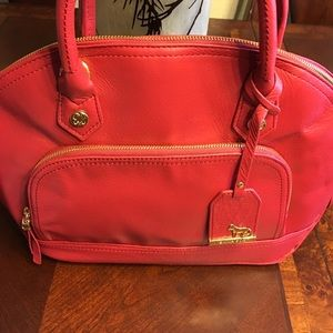 New Emma Fox Classics Medium Leather Dome Satchel