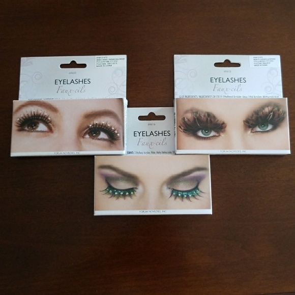 Accessories Fauxcils Eyelashes False Eyelashes Set Of 3 Poshmark