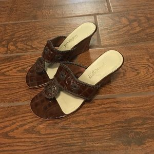 Size 7 Jack Rogers Wedges