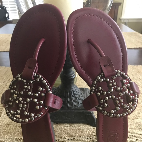 13056074b New Authentic Tory Burch Embellished Miller Sandal