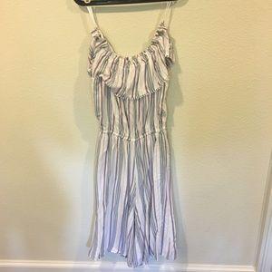 Delvin Pants - Delvin 'Gwen' off the shoulder striped jumpsuit