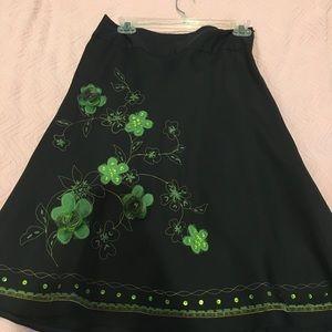Sunny Leigh print skirt size 8