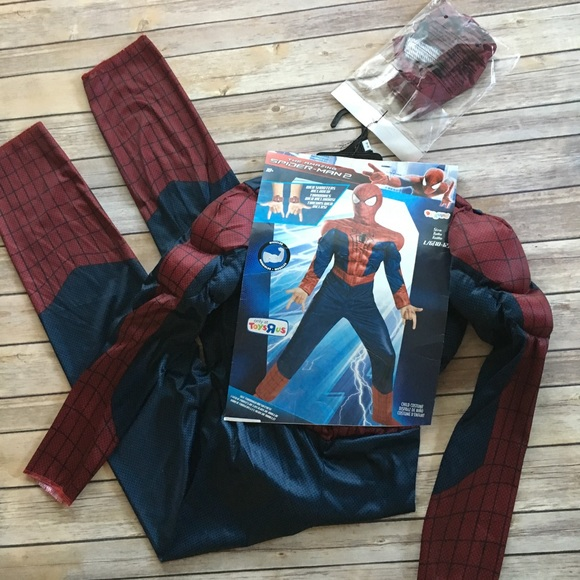 Spider-Man Costume Youth 10/12 NWT & Toys R Us Costumes | Spiderman Costume Youth 1012 Nwt | Poshmark