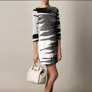 Diane Von Furstenberg Ruri Silk Black White Dress
