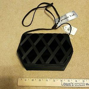 Uptown Ltd Clutch Purse w/shoulder strap new black