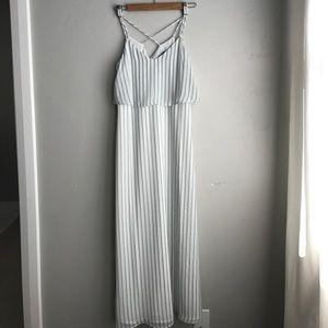 Ann Taylor petite cross back maxi dress