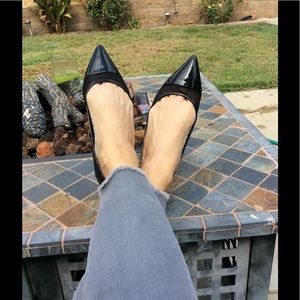 Just fab patent leather and lace flats/7.5 Kiara