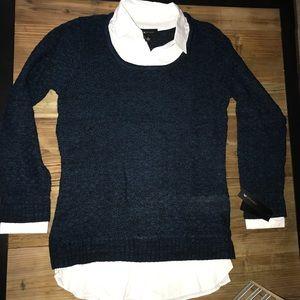 Mock Layered Sweater