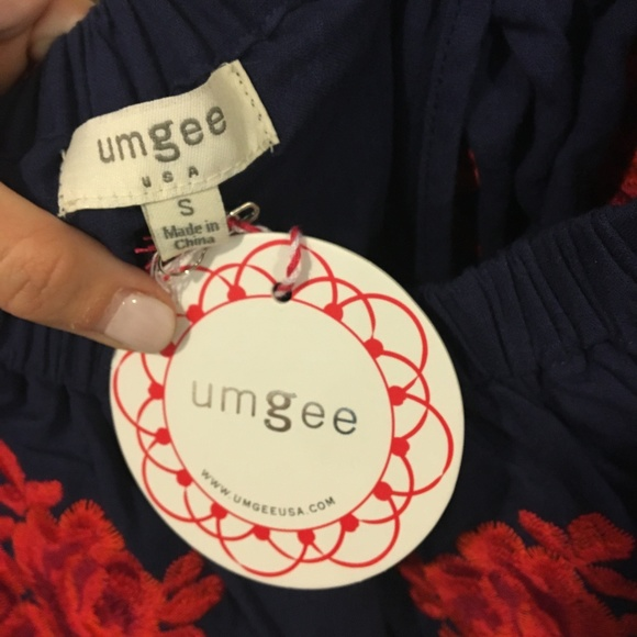Umgee Dresses - NWT Red Dress Umgee floral off shoulder dress