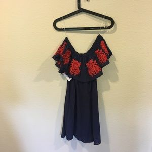 Umgee Dresses - NWT Red Dress Umgee floral off shoulder dress