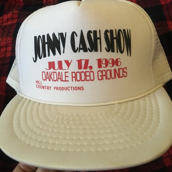 Johnny Cash Accessories - Vintage Johnny Cash trucker hat 88b3d024108