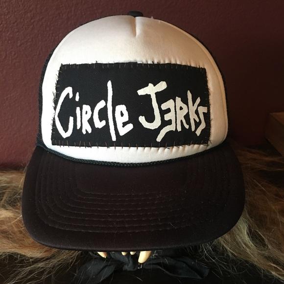Punk Rock Circle Jerks Snapback Trucker Hat. M 59bafff899086ae1d100231b c103627fa58