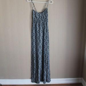 O'Neil Blue Gray Printed Strappy Maxi Dress