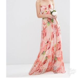 Asos floral gown