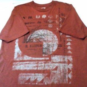 Mens Brown Graphic Tee T-Shirt Apt. 9 Size XL