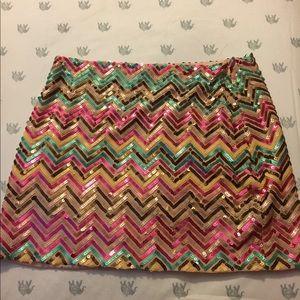 Sequins Mini Skirt NWT