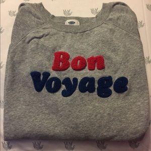 Old Navy Bon Voyage Sweatshirt L