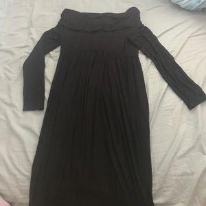 a78c09d5d8c Mother Bee Maternity. Off Shoulder Long Sleeve Maxi Dress