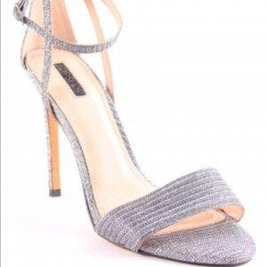 TOPSHOP silver heels