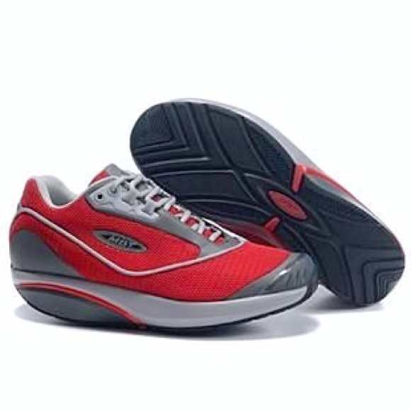 huge discount f17a5 3ff64 MBT RED ROCKER BOTTOM SNEAKER ATHLETIC SHOES 90s