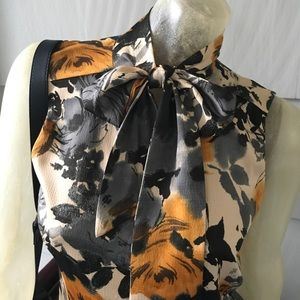 Anne Klein Blouse Pussy Bow Polyester for Fall