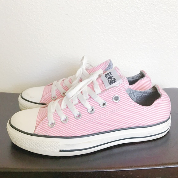 9317bc3b9174 Converse Shoes - Baby pink White Striped Low Converse