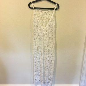 Dresses - White lace maxi dress