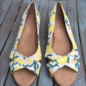 Women's Aerosoles Peek Toe Wedges 'Lemon's' Size 6