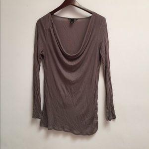 victoria's secret drape neck long sleeve tee sz M