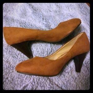 Brown suede h&m inch heels