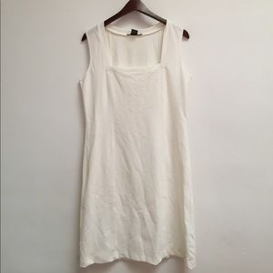 white boston proper dress size M