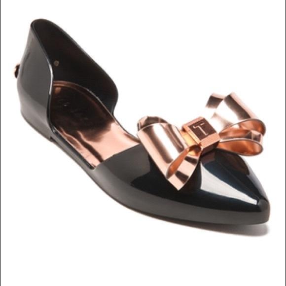 ed98f9fe4f Ted Baker Shoes | Nwot London Iela Bow Pointed Flats 398 | Poshmark